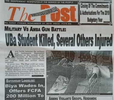 [ Fact-checking] Story on UBa Student Killed in Military Vs Amba Gun Battle Not True