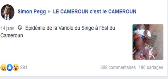 [Fact-Checking] : Non, il n'y a pas d'épidémie de variole du singe à l'Est Cameroun