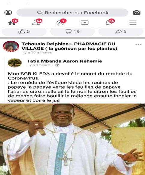 COVID-19 : Non, Mgr Samuel Kleda n'a pas révélé la recette de son remède contre le coronavirus