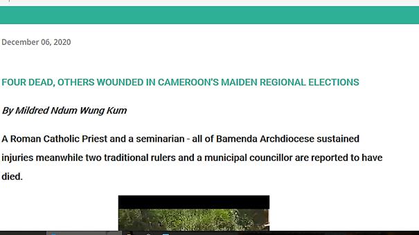 Fact-checking : Oui, il y a eu plusieurs incidents lors des élections régionales au Cameroun