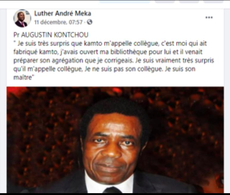 Fact-cheking : Le Pr Kontchou confirme avoir fait des remontrances au Pr Kamto