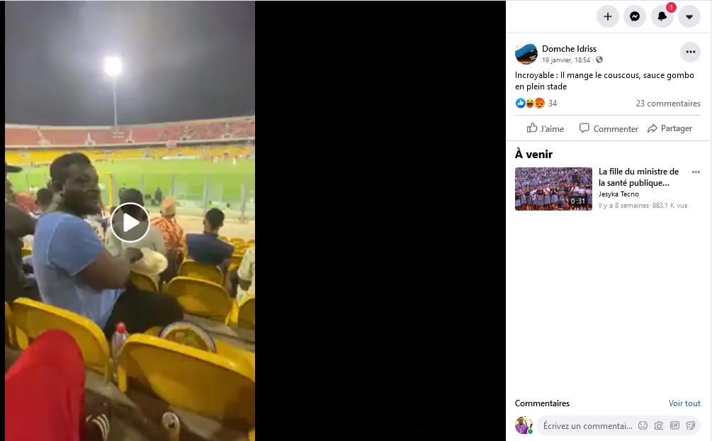 Fact-Checking : Cette vidéo n'a pas été tournée dans un stade au Cameroun