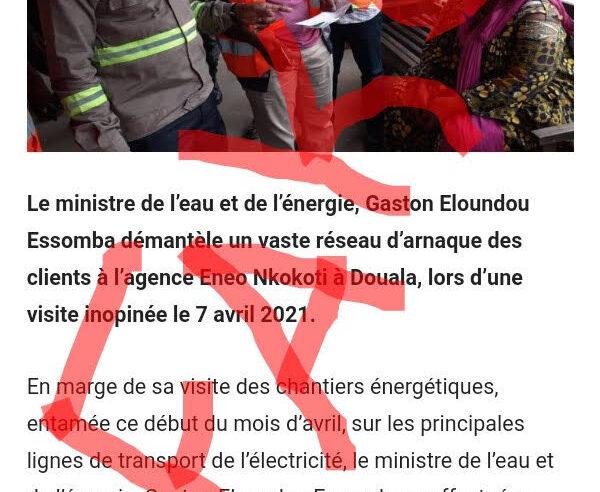 Fact-checking : Aucun « vaste réseau d'arnaque des clients » démantelé à Eneo de Bassa