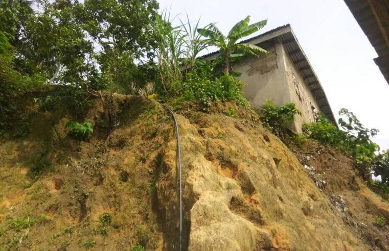 Douala : Plus d'une centaine de famille exposée à un effondrement