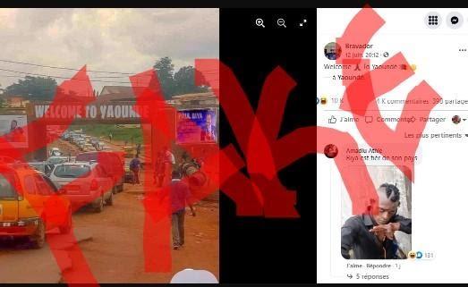 Fact-checking : Il n'y a pas de message de « bienvenue » sur l'échangeur simplifié de Yaoundé