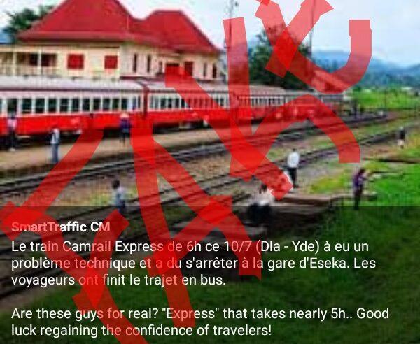 Fact-checking : Le train express de Camrail n'a pas eu un souci technique