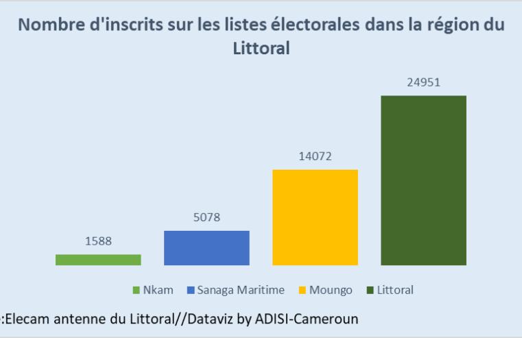 Elecam : 45 689 inscrits sur le fichier électoral  dans le Littoral en 2021