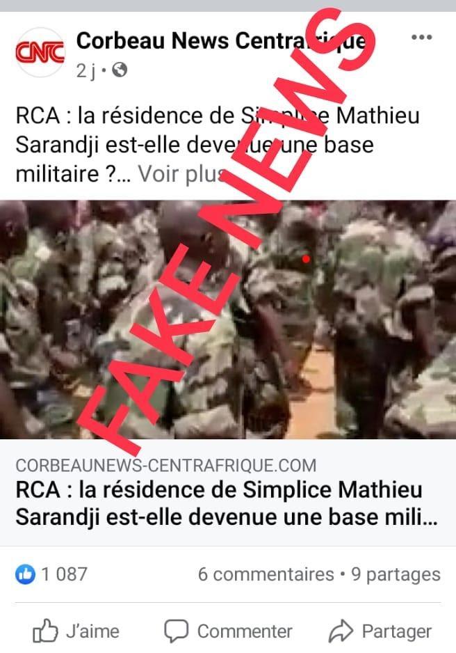 Fact-checking : Faux aucun recrutement discret ne se fait au sein de l'armée Centrafricaine