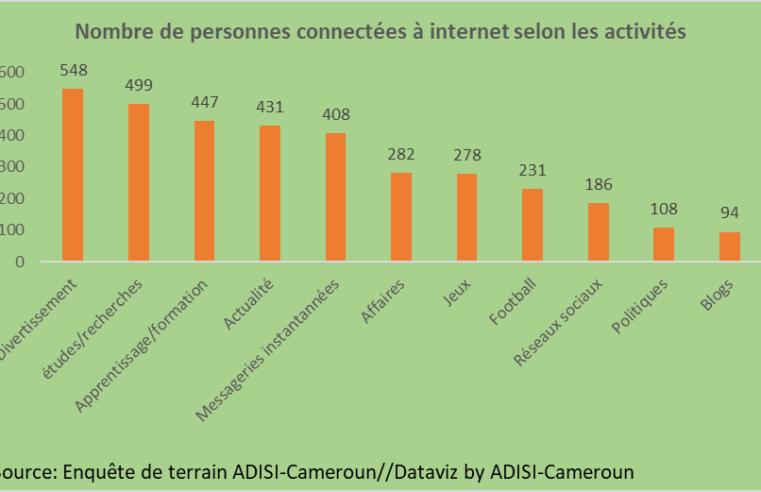Accès à internet : Environ 31 % de Camerounais passent 4 à 6 heures en ligne chaque jour